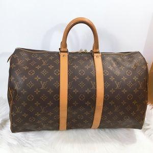 100% Authentic Louis Vuitton Monogram Keepall 45